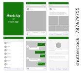set of social network photo ... | Shutterstock .eps vector #787679755