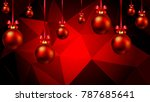 hanging christmas balls on a... | Shutterstock .eps vector #787685641