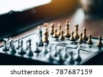 chess set on the chess board ... | Shutterstock . vector #787687159