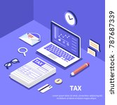 tax and accountant concept. can ... | Shutterstock .eps vector #787687339