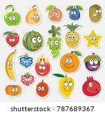 vector fruit  character set ... | Shutterstock .eps vector #787689367