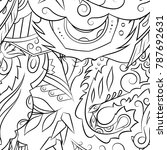 seamless mehndi vector pattern. ... | Shutterstock .eps vector #787692631
