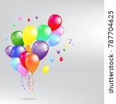balloon set. vector... | Shutterstock .eps vector #787704625