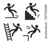 caution symbols with stick... | Shutterstock . vector #787705489