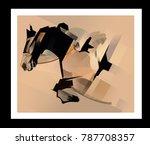 horse jumping   vector... | Shutterstock .eps vector #787708357