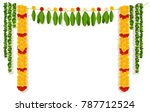 indian garland of flowers and... | Shutterstock .eps vector #787712524