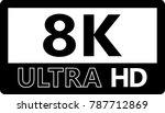 vector illustration of 8k ultra ...   Shutterstock .eps vector #787712869