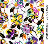 floral seamless pattern... | Shutterstock .eps vector #787715029