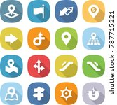 flat vector icon set   pointer... | Shutterstock .eps vector #787715221