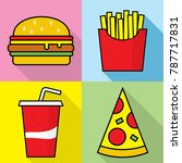 fast food icons vector file