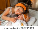 happy sister and brother | Shutterstock . vector #787719121