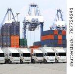 transportation  import export... | Shutterstock . vector #787724341
