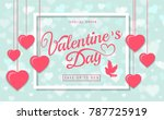valentines day sale greeting...   Shutterstock .eps vector #787725919