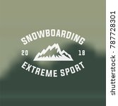 snowboarding emblems  labels... | Shutterstock .eps vector #787728301