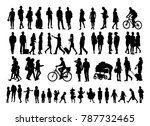 over fifty people black... | Shutterstock .eps vector #787732465