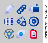 icon set about car engine. with ... | Shutterstock .eps vector #787739269