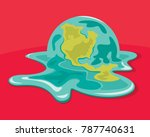 global warming problem. caring... | Shutterstock .eps vector #787740631
