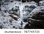Frozen Pericnik Waterfall In...