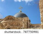 church of the holy sepulchre.... | Shutterstock . vector #787750981