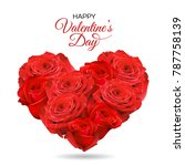 valentine's day greeting card... | Shutterstock .eps vector #787758139