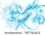 fantastic explosion. abstract... | Shutterstock . vector #787762621