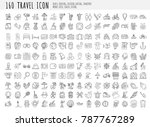 travel hand draw icons. icon... | Shutterstock .eps vector #787767289