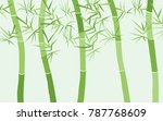 bamboo background. abstraction... | Shutterstock .eps vector #787768609