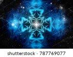 psychedelic pattern in blue...   Shutterstock . vector #787769077