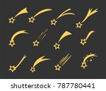 shooting stars icons. vector... | Shutterstock .eps vector #787780441
