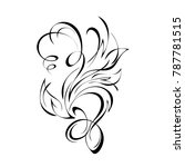 abstract drawing in black lines ... | Shutterstock .eps vector #787781515