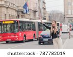 catching a taxi | Shutterstock . vector #787782019