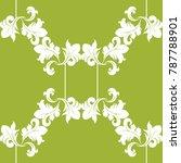 seamless floral pattern swirl...   Shutterstock .eps vector #787788901