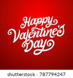 happy valentines day typography ... | Shutterstock .eps vector #787794247