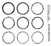 vector set of round frames and... | Shutterstock .eps vector #787795225