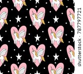 seamless pattern with cute... | Shutterstock .eps vector #787797721