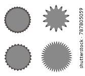 set of vector starburst ...   Shutterstock .eps vector #787805059