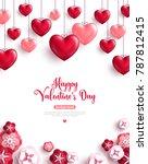 happy saint valentine's day...   Shutterstock .eps vector #787812415