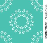 floral seamless pattern with...   Shutterstock .eps vector #787814011