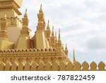 pha that luang is a gold... | Shutterstock . vector #787822459