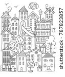 hand drawn page for coloring... | Shutterstock .eps vector #787823857