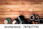 photography equipment  camera ... | Shutterstock . vector #787827745
