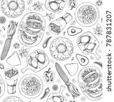 mexican food seamless pattern....   Shutterstock .eps vector #787831207