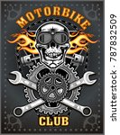 vintage motorcycle label | Shutterstock . vector #787832509