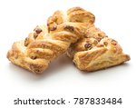 two twist breads isolated on... | Shutterstock . vector #787833484