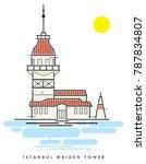 istanbul maiden tower vector... | Shutterstock .eps vector #787834807