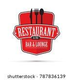 red restaurant logo | Shutterstock .eps vector #787836139