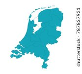 map of netherlands   blue... | Shutterstock .eps vector #787837921