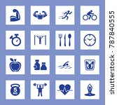 fitness vector icon set. eps 10.