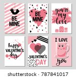set of valentine's day card.... | Shutterstock .eps vector #787841017