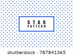 star objects vector pattern.... | Shutterstock .eps vector #787841365